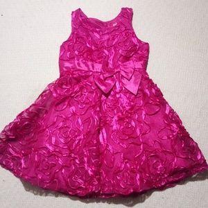 Fuschia little girls fancy dress